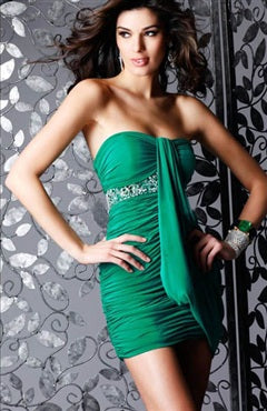 Sweetheart Column Mini Sleeveless Beading Cocktail Dresses, Style Code: 05512, US$94.00
