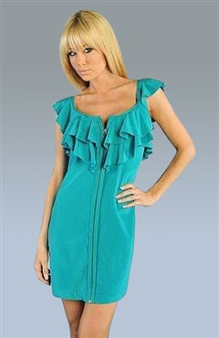 Scoop Sheath Greens Mini Sleeveless Evening Wear, Style Code: 06462, US$59.00