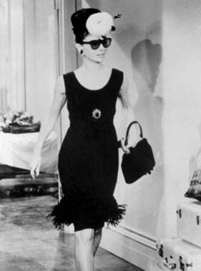 Audrey Hepburn in her trademark little black dress