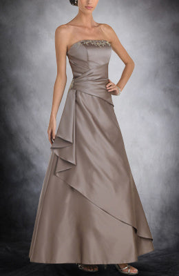 Ruffles Grays Sleeveless Satin Bridesmaid Dresses, Style Code: 02887, US$109.00