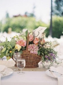 basket wedding centerpiece