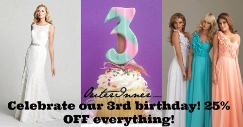OuterInner.com 3rd birthday celebration sale