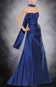Taffeta Blues A-line Sleeveless Black Tie Event Style Code: 01329 $129