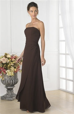 Browns A-line Floor-length Strapless Bridesmaid Dresses