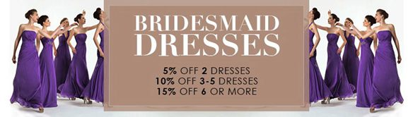 bridemaids dresses offers