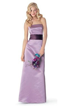 A-line Satin Purples Sleeveless Bridesmaid Dresses, Style Code: 02859, US$89.00