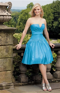 V-neck A-line Knee-length Sleeveless Bridesmaid Dresses, Style Code: 04987, US$89.00