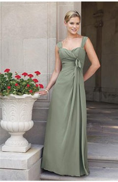 Straps Sleeveless Greens Floor-length Bridesmaid Dresses Style Code: 02012