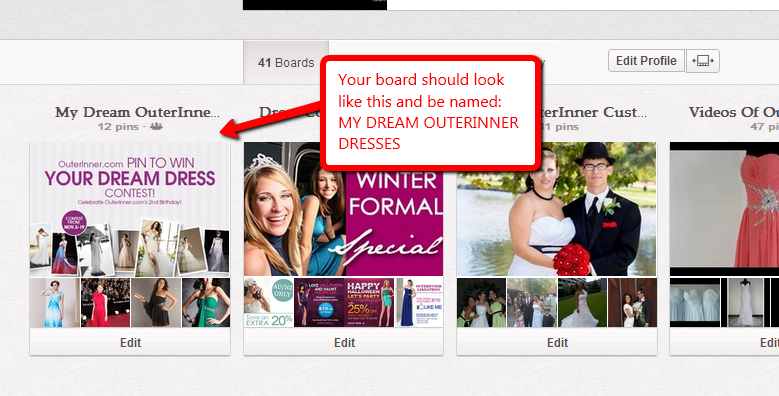 how your outerinner.com pin to win contest board should look