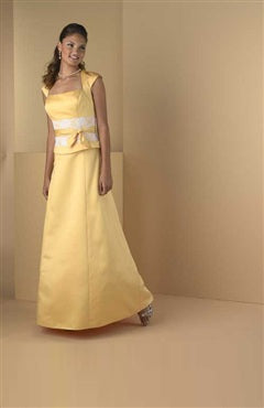 Floor-length Capped Square A-line Bridesmaid Dresses, Style Code: 00191, US$79.00