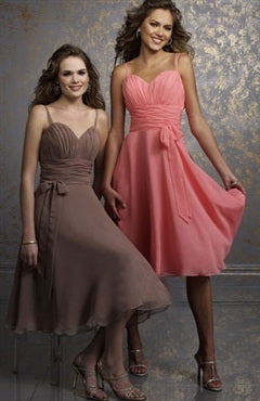 A-line Bridesmaid Dresses with Spaghetti Straps, Style Code: 01066, US$78.00