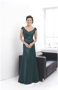 Floor-length V-neck Capped A-line Bridesmaid Dresses, Style Code: 01929, US$89.00