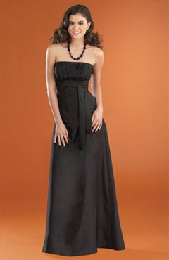Sleeveless Strapless Black A-line Bridesmaid Dresses, Style Code: 02839, US$33.15