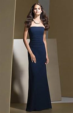 Strapless Blues Floor-length Sleeveless Bridesmaid Dresses, Style Code: 02896, US$99.00