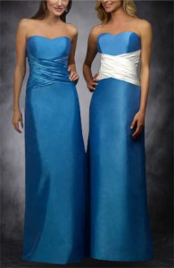 Long Ruffles Sweetheart Sleeveless Bridesmaid Dress 02924