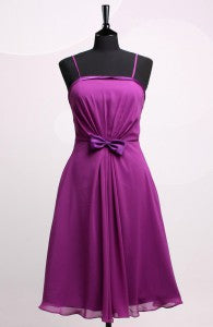 Spaghetti Straps A-Line Purples Short Sleeveless Bridesmaid Dresses Style Code: 06450