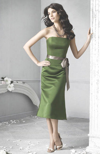 Olive Greens Sashes/ Ribbons Strapless Sleeveless Bridesmaid Dresses, Style Code: 01049, US$64.00