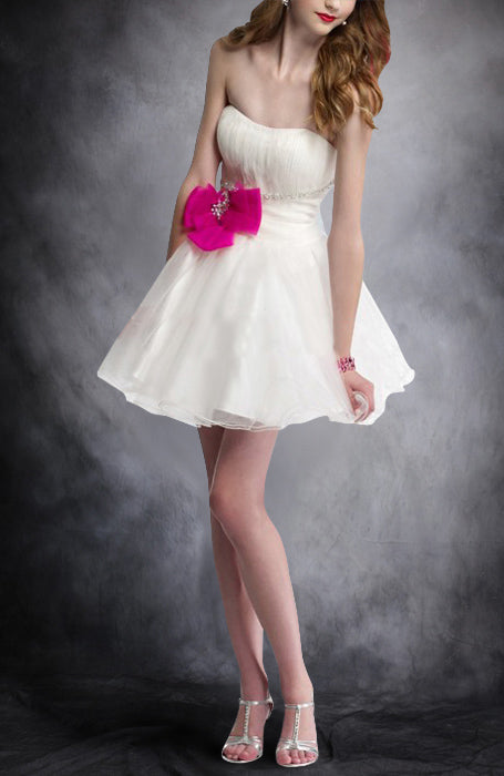 Short Strapless A-line Sleeveless Beading Cocktail Dresses, Style Code: 05155, US$89.00