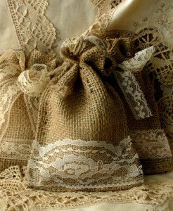 burlap gift bag wedding favors