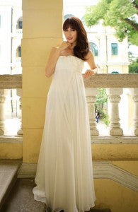 Floral Bandeau Empire Chiffon Wedding Dress Style Code: 15490