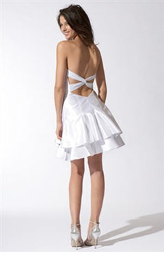 Sweetheart Sleeveless Short Satin Cocktail Dress