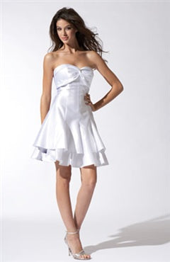 Sweetheart Sleeveless Short Satin Cocktail Occasions Dresses