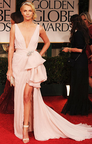charlize theron black tie event dresses