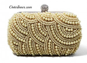 Pearls Clutch with Beaded Closure details 10989