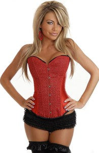 Upper Torso Reds Satin Corsets Sexy Lingerie Style Code: 07294 $18.99