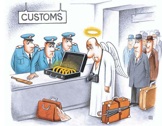 customs need to check goods and tax them