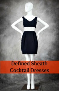 defined sheath cocktail dresses