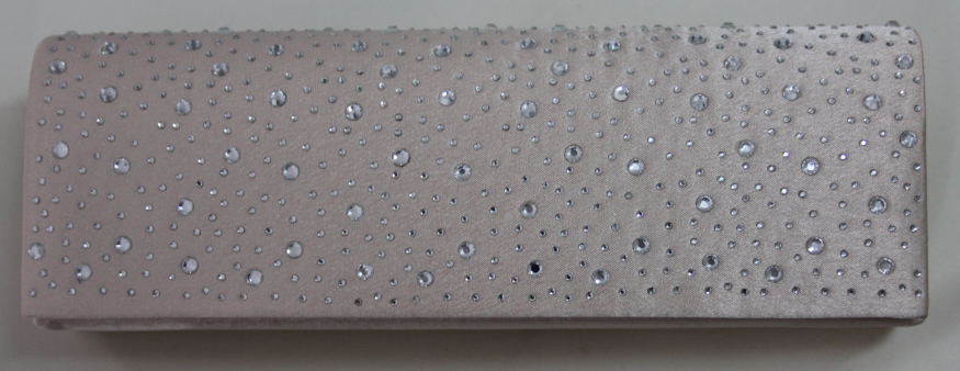 champagne clutch with diamante studs