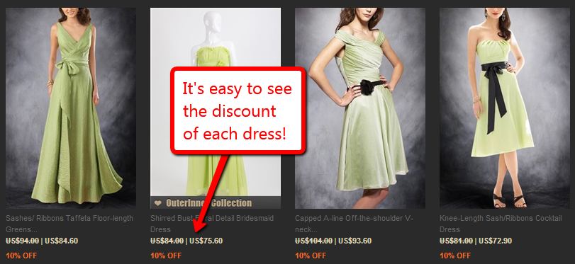bridesmaid dresses discount