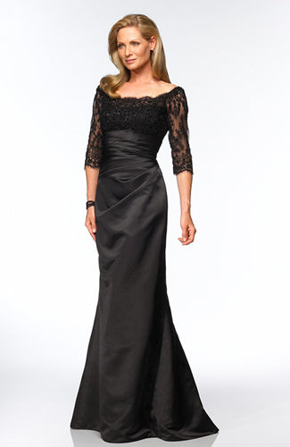 Trumpet/ Mermaid illusion Off-the-shoulder Floor-length Black Tie Event, Style Code: 01125, US$125.00