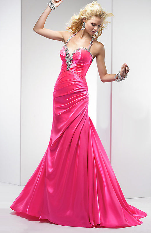 Side Draping Beading Halter 2013 Prom Dresses, Style Code: 08636, US$116.00