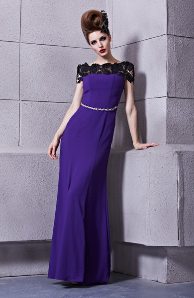 Silk Georgette Sheath Off -the-shoulder Dress, Style Code: 10520, US$154.00