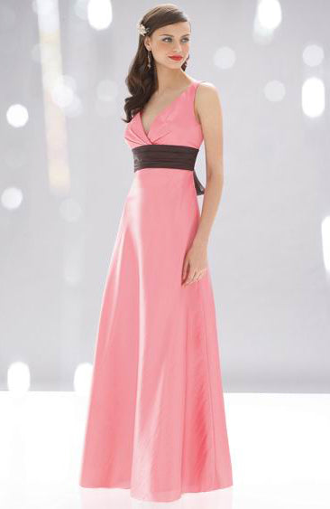 Ruffles A-line Sleeveless Pinks Bridesmaid Dresses, Style Code: 02808, US$79.00