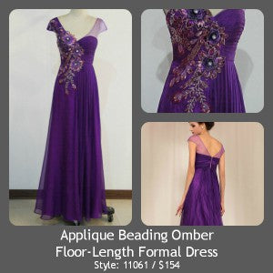 Applique Beading Omber Floor-Length Formal Dress Style Code: 11061