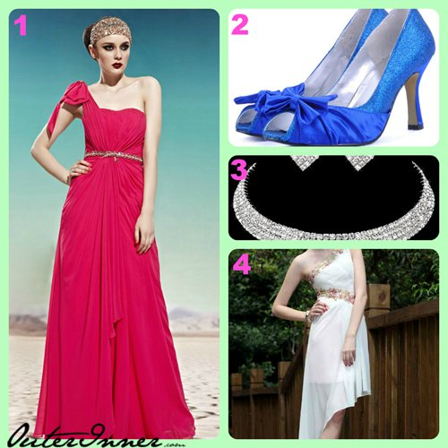 shoes, jewellery, and long dresses with free shipping