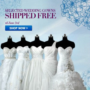 free shipping wedding gowns