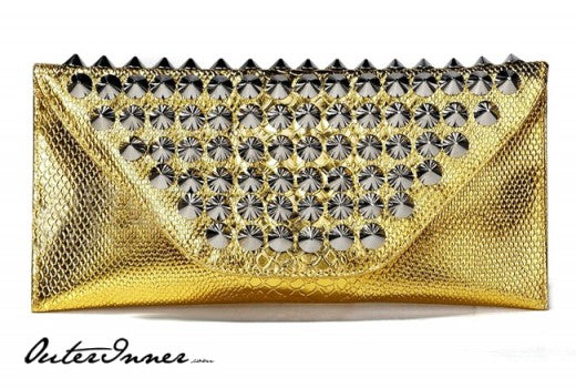 Gold Stud Embellished Clutch, Style Code: 10778, US$27.00