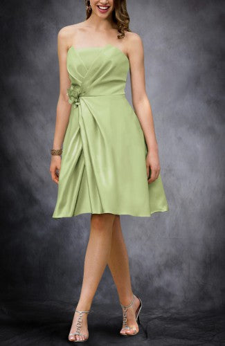 Mock Wrapped Strapless Bridesmaid Dress, Style Code: 08319, $69