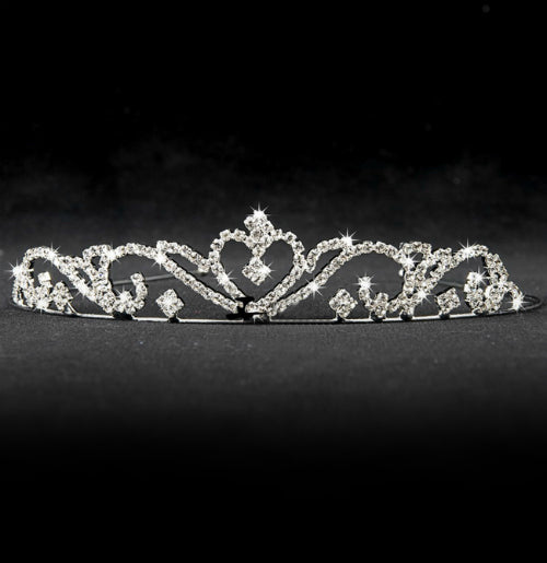 heavily beaded crystal wedding tiara 10647