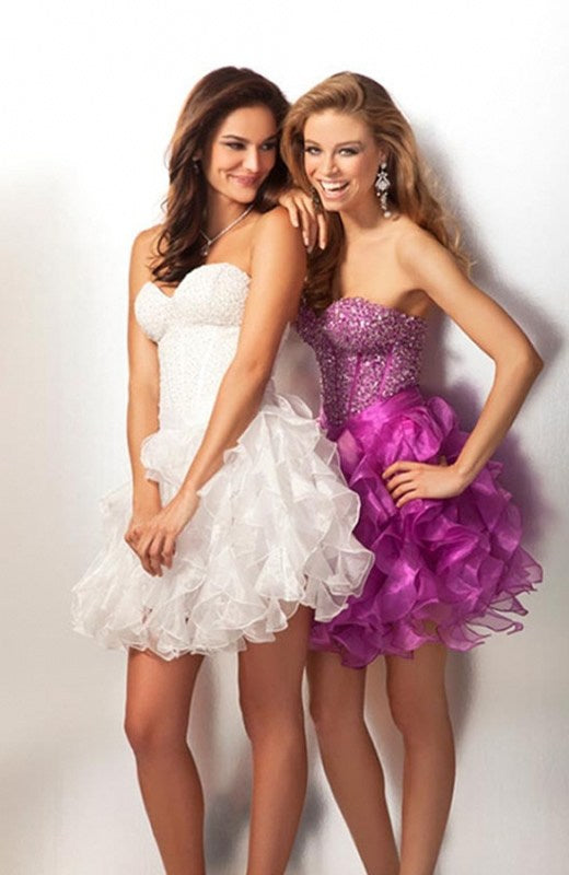 Sweetheart Backless Corset Bodice Homecoming Dress, Style Code: 09516, US$134.00