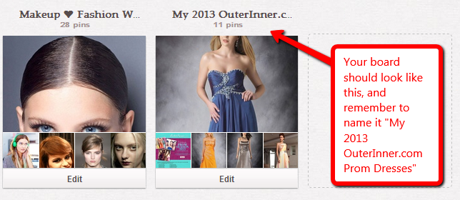 how your 2013 outerinner prom season contest board should look