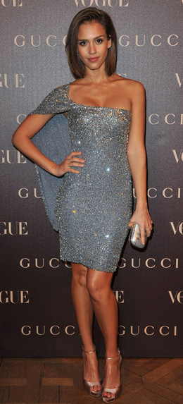 jessica alba in beaded dress