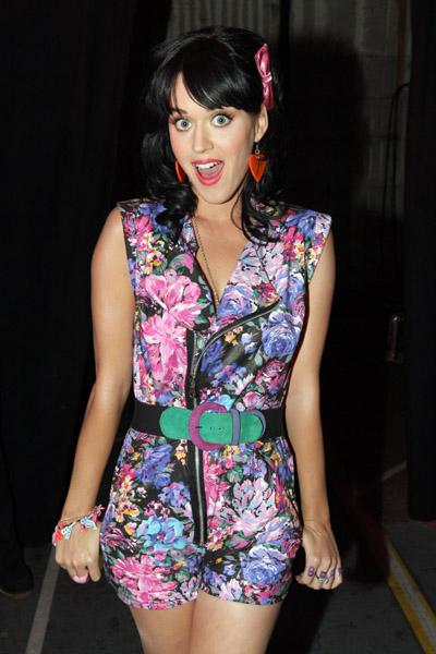 Katy Perry wears floral dresses and prints