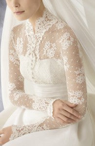 Illusion Lace High Neck Long Sleeves Wedding Gown Style Code: 12629 $298