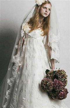 Lace Edge One Tier Cathedral Wedding Veil, Style Code: 09158, US$99.00