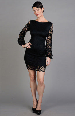 Sheath Black Sleeveless Jewel Little Black Dresses, Style Code: 02181, $94